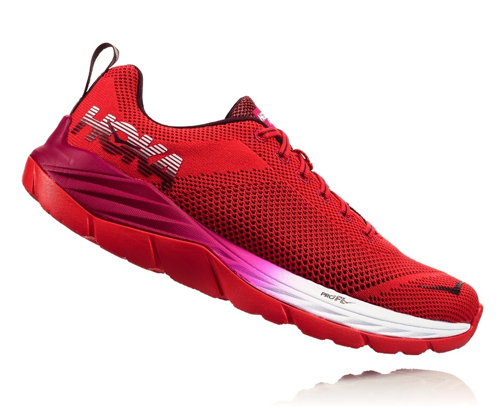 5670bdcd37930 Women's Hoka MACH Shoes (Fly Collection) - Hibiscus / Cherries Jubilee