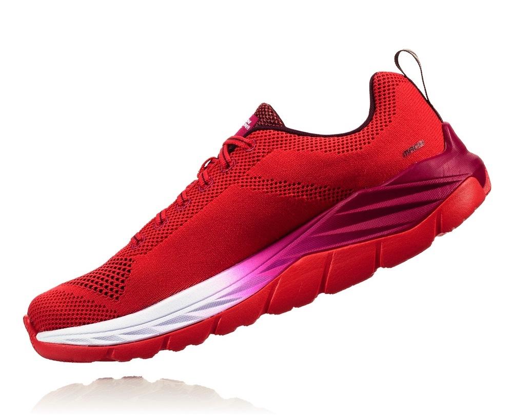 7e61362e682b Women s Hoka MACH (Fly Collection) Road Running Shoes - Hibiscus ...