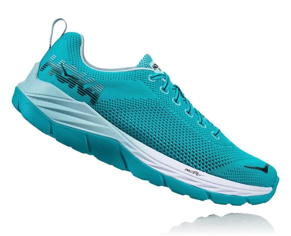 2e147f05fa8073 Womens Hoka MACH Fly Collection Road Running Shoes - Bluebird   White