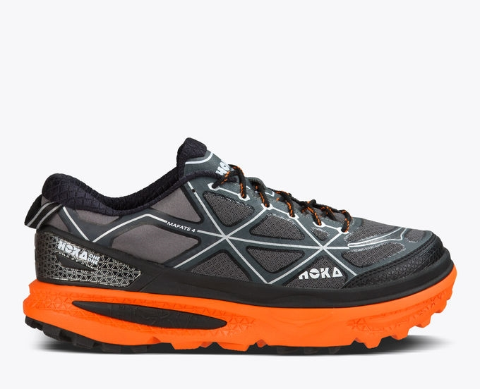 e3a2aef1c0f323 Men s Hoka MAFATE 4 Trail Running Shoes - Grey   Flame ...