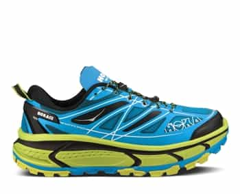 Mens Hoka MAFATE SPEED Trail Running Shoes - Cyan / Lime / Black