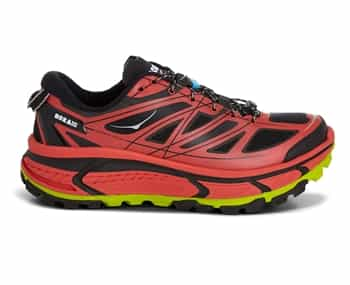 Mens Hoka MAFATE SPEED Trail Running Shoes - Red / Black / Lime