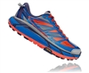 Mens Hoka MAFATE SPEED 2 Trail Running Shoes - Imperial Blue / Mandarin Red
