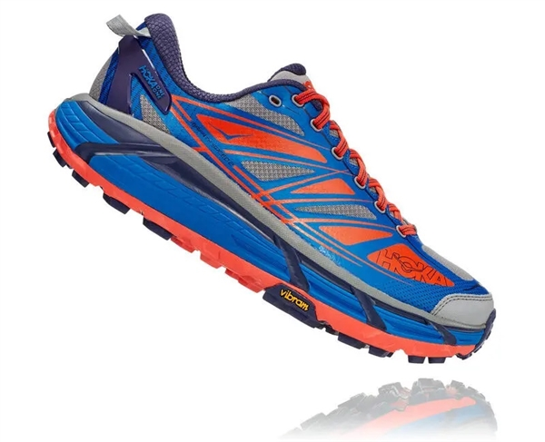 Mens Hoka MAFATE SPEED 2 Trail Running Shoes - Harbour Blue / Oil Blue