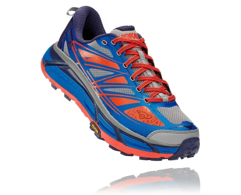 Men s Hoka MAFATE SPEED 2 Trail Running Shoes - Nasturtium   Spicy ... 9b6eb081eed