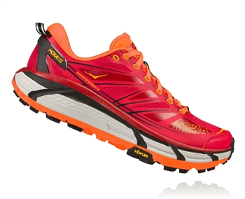Mens Hoka MAFATE SPEED 2 Trail Running Shoes - True Red / Chili Pepper
