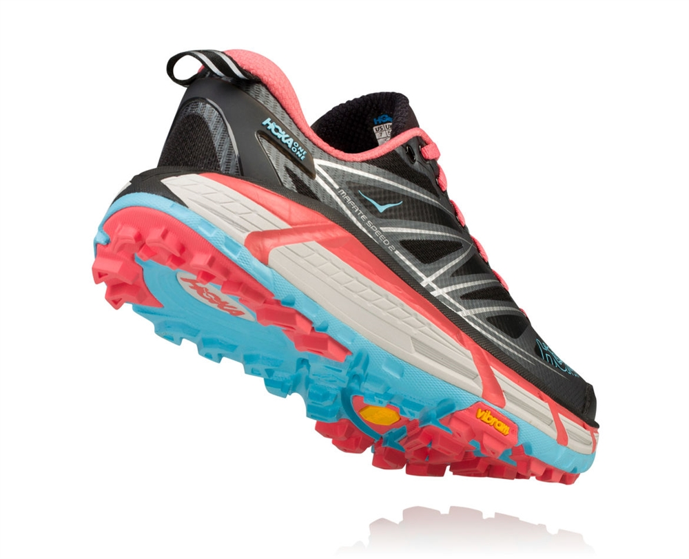 eb07f3a0ae9c01 Women s Hoka MAFATE SPEED 2 Trail Running Shoes - Anthracite   Blue ...
