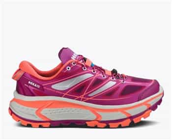 Womens Hoka MAFATE SPEED Trail Running Shoes - Wild Aster / Neon Coral