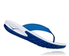 Mens Hoka ORA RECOVERY FLIP Trail Running Recovery Sandals - White / True Blue
