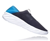 Mens Hoka ORA RECOVERY SHOE trail running recovery slip-on shoes - Ebony / Dresden Blue