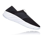 Mens Hoka ORA RECOVERY SHOE trail running recovery slip-on shoes - Black / Phantom