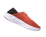 Womens Hoka ORA RECOVERY SHOE trail running recovery slip-on shoes - Ebony / Emberglow