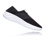 Womens Hoka ORA RECOVERY SHOE trail running recovery slip-on shoes - Black / Phantom