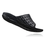 Mens Hoka ORA RECOVERY SLIDE Trail Running Recovery Sandals - Black / Anthracite