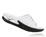 Mens Hoka ORA RECOVERY SLIDE Trail Running Recovery Sandals - Black / White