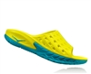 Mens Hoka ORA RECOVERY SLIDE Trail Running Recovery Sandals - Caribbean Sea / Primrose