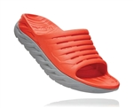 Mens Hoka ORA RECOVERY SLIDE 2 trail running recovery sandals - Mandarin Red / Wild Dove