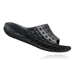Womens Hoka ORA RECOVERY SLIDE Trail Running Recovery Sandals - Black / Anthracite