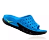 Womens Hoka ORA RECOVERY SLIDE Trail Running Recovery Sandals - Black / Process Blue