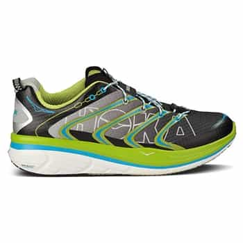 Mens Hoka RAPA NUI TARMAC Road Running Shoes - Black / Citrus / Cyan