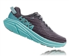 Womens Hoka One One RINCON Running Shoes - Charcoal Gray / Aqua Sky
