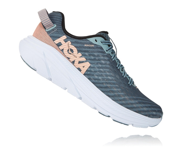 Womens Hoka One One RINCON Running Shoes - Lead / Pink Sand