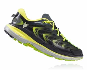 Mens Hoka SPEEDGOAT Trail Running Shoes - Bright Green / Black