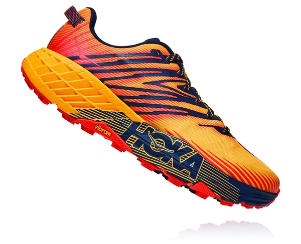 Mens Hoka SPEEDGOAT 4 Trail Running Shoes - Gold Fusion / Black Iris