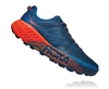 Mens Hoka SPEEDGOAT 4 Trail Running Shoes - Majolica Blue / Mandarin Red