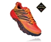 Mens Hoka SPEEDGOAT 4 GTX (GORE-TEX) Waterproof Trail Running Shoes - Mandarin Red / Gold Fusion