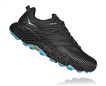 Womens Hoka SPEEDGOAT 4 GTX (GORE-TEX) Waterproof Trail Running Shoes - Anthracite / Dark Gull Grey