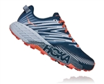 Womens Hoka SPEEDGOAT 4 WIDE Trail Running Shoes - Majolica Blue / Heather