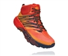 Mens Hoka SPEEDGOAT MID 2 GTX (GORE-TEX) Waterproof Trail Running Shoes - Mandarin Red / Gold Fusion