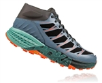 Mens Hoka SPEEDGOAT MD WP Waterproof Trail Running Shoes - Stormy Weather / Beryl Green