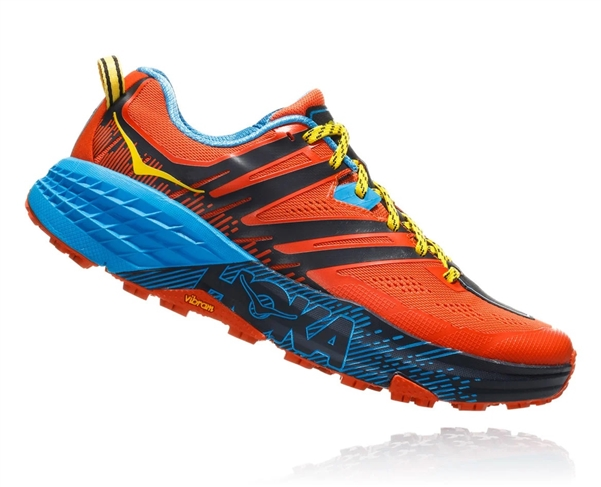 Mens Hoka SPEEDGOAT 3 Trail Running Shoes - Nasturtium / Spicy Orange