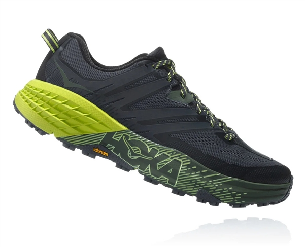 Mens Hoka SPEEDGOAT 3 Trail Running Shoes - Ebony / Black