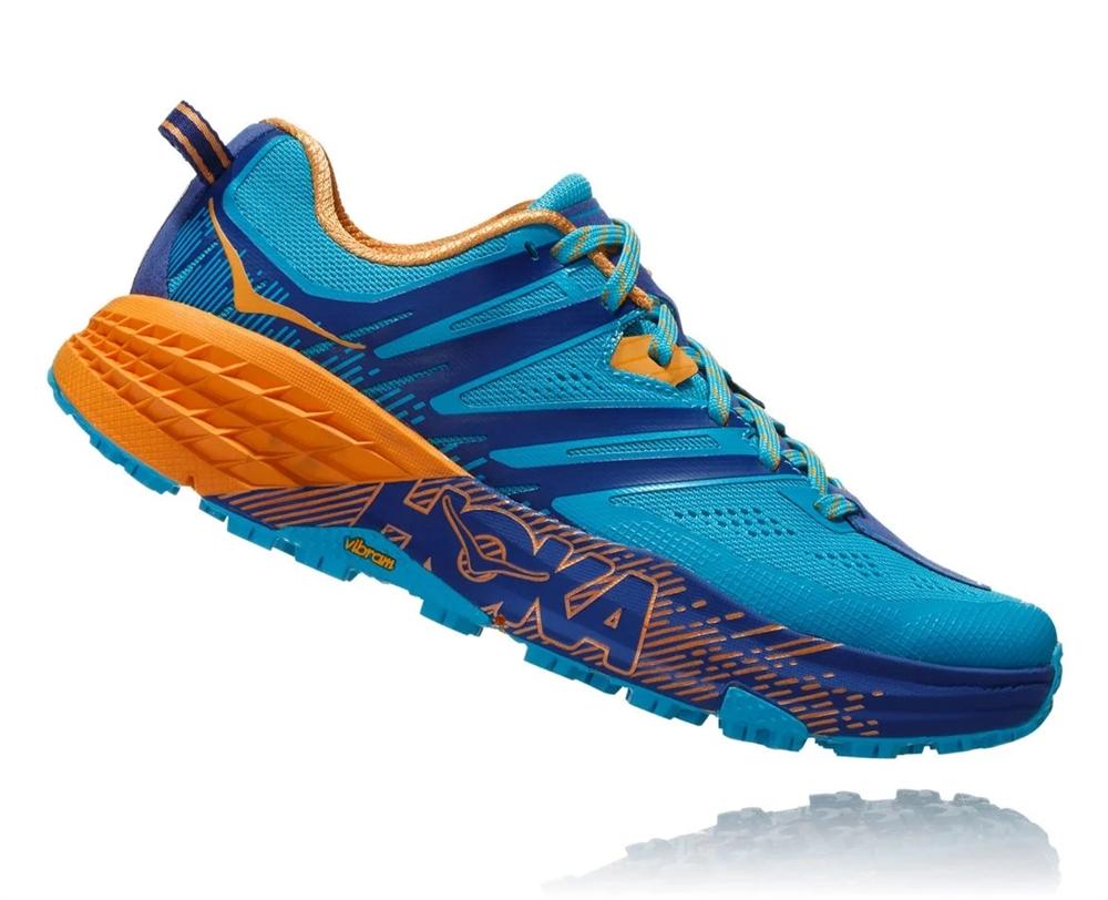 Women's Hoka SPEEDGOAT 3 Shoes - Scuba Blue / Sodalite Blue
