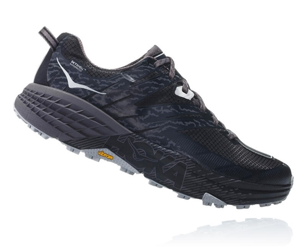 Mens Hoka SPEEDGOAT 3 WATERPROOF Trail Running Shoes - Black / Drizzle