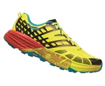 Mens Hoka SPEEDGOAT 2 Trail Running Shoes - Black / Evening Primrose