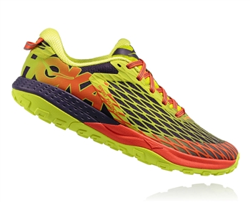 Mens Hoka SPEED INSTINCT Trail Running Shoes - Nightshade / Acid