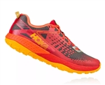 Mens Hoka SPEED INSTINCT 2 Trail Running Shoes - True Red / Red Orange