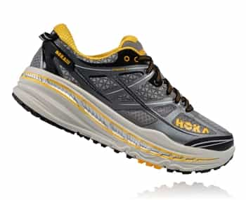 Mens Hoka STINSON 3 ATR Trail Running Shoes - Grey / Gold Fusion