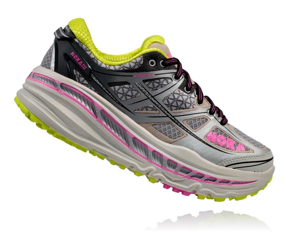 ced32414ad905 Women's Hoka STINSON 3 ATR Shoes - Grey / Fuchsia
