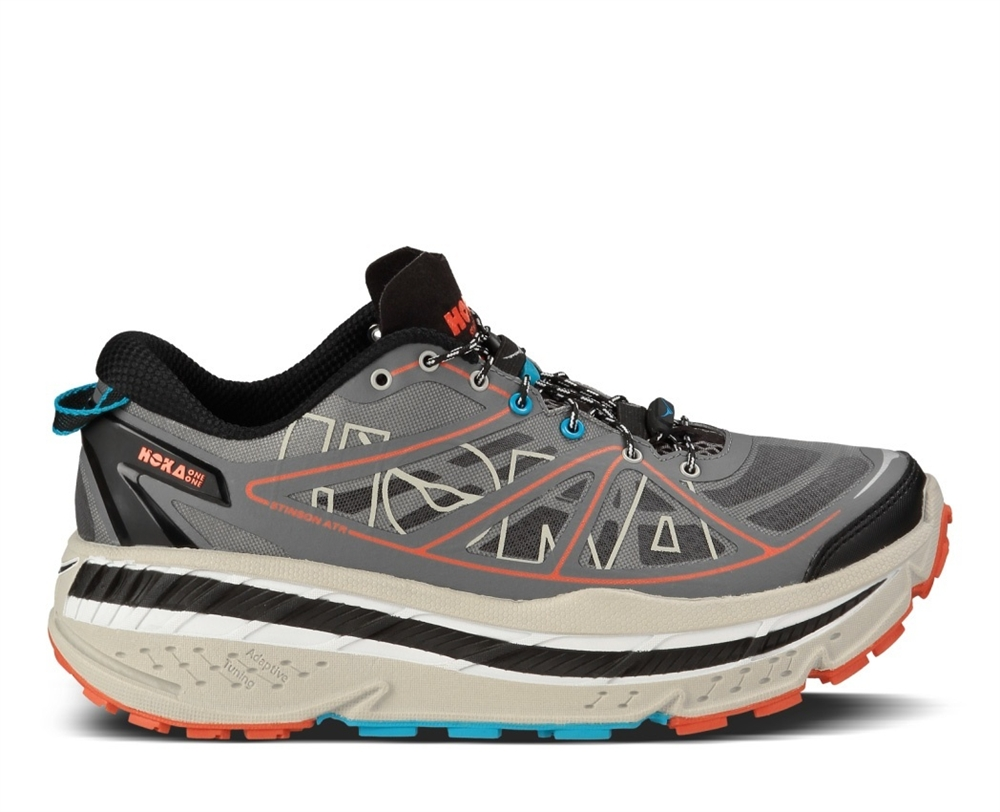 176f1a67b81 Men s Hoka STINSON ATR Trail Running Shoes - Anthracite   Grey   Red ...