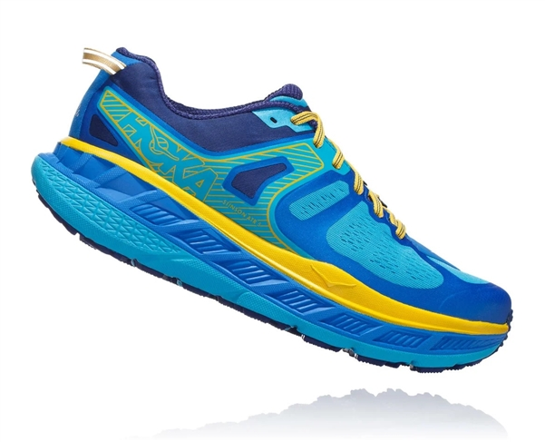 Mens Hoka One One STINSON ATR 5 Trail Running Shoes - Directorie Blue / Twilight Blue