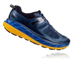 Mens Hoka One One STINSON ATR 5 Trail Running Shoes - Moonlight Ocean / Old Gold