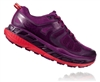 Womens Hoka One One STINSON ATR 5 Trail Running Shoes - Grape Juice / Poppy Red