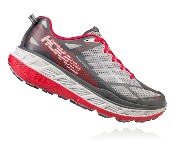 Mens Hoka STINSON ATR 4 Trail Running Shoes - Griffin / Asphalt