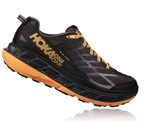 Mens Hoka STINSON ATR 4 Trail Running Shoes - Black / Kumquat