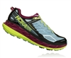 Womens Hoka STINSON ATR 4 Trail Running Shoes - Blue Fog / Boysenberry